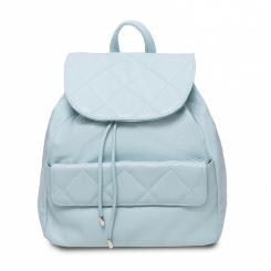 Женский кожаный рюкзак декоративной прошивкой на клапане и кармашке от Hadley, арт. Biscuit Mint Cream