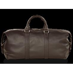 Дорожная мужская кожаная сумка темно коричневого цвета в спортивном стиле от Hadley, арт. Biswood