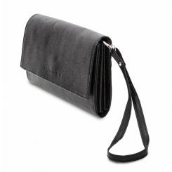 Классическая женская сумка-клатч из роскошной натуральной замши от Hadley, арт. Black Joy