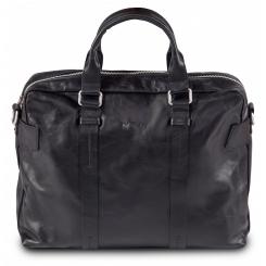 Классическая мужская деловая сумка с удобным отделением для ноутбука от Hadley, арт. Brian Black