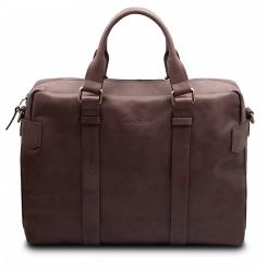 Коричневая мужская деловая сумка в классическом стиле от Hadley, арт. Brian Brown