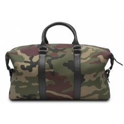 Дорожная мужская сумка камуфляжной расцветки с деталями из натуральной кожи от Hadley, арт. Camo 46