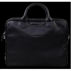 Черная кожаная мужская сумка для бумаг и ноутбука от Hadley, арт. H Camp Black