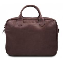 Коричневая кожаная мужская сумка для документов и ноутбука 15.6 от Hadley, арт. H Camp Brown