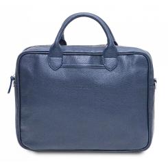 Мужская деловая сумка для документов и ноутбука, модель из натуральной кожи от Hadley, арт. Camp Navy