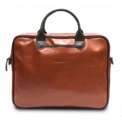 Мужская кожаная сумка красно коричневого цвета с ручками от Hadley, арт. Camp Red