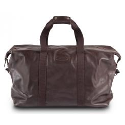 Большая мужская кожаная дорожная сумка темно коричневого цвета от Hadley, арт. Carl Brown