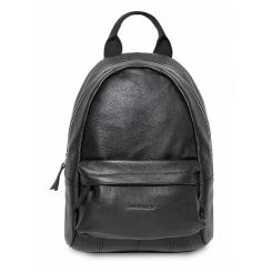 Черный мужской кожаный рюкзак большого размера для ношения по городу от Hadley, арт. City Black