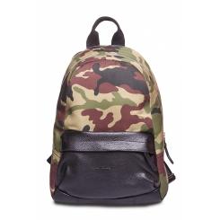 Тканевый камуфляжный мужской рюкзак с вставками из натуральной кожи от Hadley, арт. City camo 43