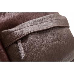 Большой городской мужской рюкзак из натуральной кожи коричневого цвета от Hadley, арт. City Double Brown