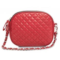 Роскошная женская сумка из натуральной крожи кораллового цвета от Hadley, арт. Crimson Candy