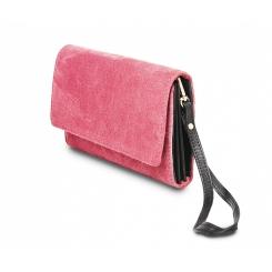 Стильный женский клатч из замши малинового цвета, для вечерних выходов от Hadley, арт. Crimson Joy