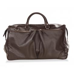 Дорожная мужская сумка из натуральной кожи с умеренным блеском от Hadley, арт. Dorn Brown