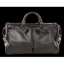 Стильная черная дорожная сумка из натуральной кожи черного цвета от Hadley, арт. Dorn