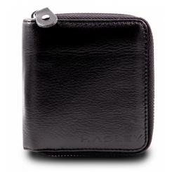 Черный квадратный кошелек с металлической молнией по периметру от Hadley, арт. Finch Black