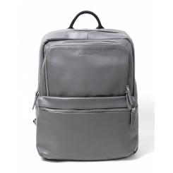 Городской мужской кожаный рюкзак серого цвета c двумя просторными отделами от Hadley, арт. Hatton Gray