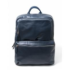 Мужской городской кожаный рюкзак синего цвета, многофункциональный от Hadley, арт. Hatton Navy