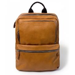Мужской городской кожаный рюкзак желтого цвета, многофункциональный от Hadley, арт. Hatton Yellow