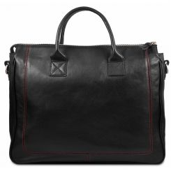 Мужская кожаная сумка в деловом стиле с замшевыми накладками от Hadley, арт. Henry Sport Edition