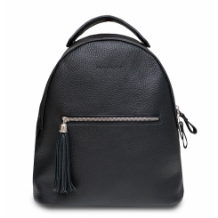 Практичный городской женский рюкзак с кожаной кисточкой-подвеской от Hadley, арт. Icon Black