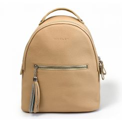Повседневный женский кожаный рюкзак персикового цвета от Hadley, арт. Icon Peach