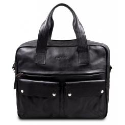 Большая мужская кожаная сумка черного цвета от Hadley, арт. Keyworth