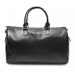 Черная мужская дорожная сумка из толстой натуральной кожи от Hadley, арт. Lanfort Black
