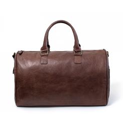Стильная мужская дорожная сумка коричневого цвета из натуральной кожи от Hadley, арт. Lanfort Brown