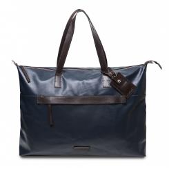 Стильная мужская дорожная сумка из натуральной гладкой кожи от Hadley, арт. Larton Navy