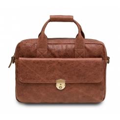 Стильная сумка для деловых мужчин, выполненная из коричневой натуральной кожи от Hadley, арт. Maple Red