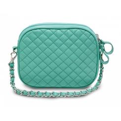 Роскошная женская кожаная сумочка компактного размера с двумя отделами от Hadley, арт. Mint Candy