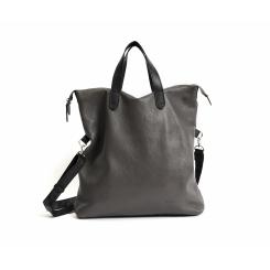 Стильная большая мужская сумка из натуральной кожи серого цвета от Hadley, арт. Мужской шоппер Harrow Gray
