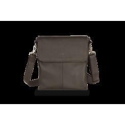 Коричневая мужская кожаная сумка через плечо, модель для бумаг А4 и планшета 10.1 от Hadley, арт. Olive Brown