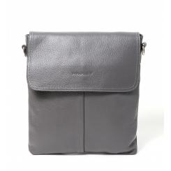 Серая мужская кожаная сумка через плечо, модель планшетного формата от Hadley, арт. Olive Gray