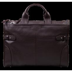 Стильная деловая мужская сумка из натуральной кожи от Hadley, арт. Pine Brown