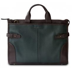 Деловая мужская сумка на каждый день с кожаным плечевым ремнем от Hadley, арт. Pine Green