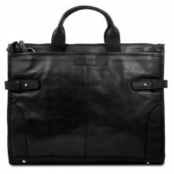 Деловая мужская кожаная сумка для ноутбука от Hadley, арт. Pine