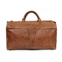 Вместительная мужская дорожная кожаная сумка коричневого цвета от Hadley, арт. Portsmouth Nut