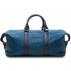 Большая мужская дорожная сумка синего цвета оригинальной формы от Hadley, арт. Royal Wood