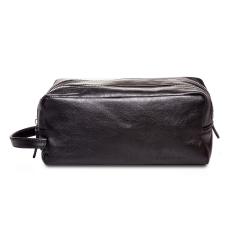 Мужской кожаный несессер черного цвета от Hadley, арт. Sefton Black