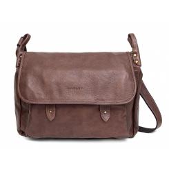 Большая коричневая мужская сумка через плечо из натуральной кожи от Hadley, арт. Shelton Brown