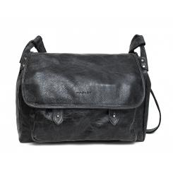 Большая мужская кожаная сумка через плечо темно серого цвета от Hadley, арт. Shelton Gray