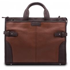 Стильная деловая мужская кожаная сумка на каждый день от Hadley, арт. Sir Pine Brown