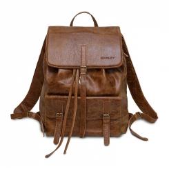 Вместительный городской мужской рюкзак из коричневой натуральной кожи от Hadley, арт. Wallnut