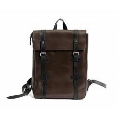 Модный мужской деловой рюкзак из коричневой натуральной кожи от Hadley, арт. Wellington