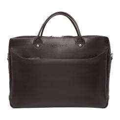 Деловая мужская сумка из гладкой и матовой натуральной кожи для документов и ноутбука от Lakestone, арт. Morley Brown