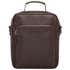 Коричневая вертикальная мужская деловая сумка с прочной верхней ручкой от Lakestone, арт. Garnet Brown