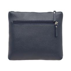 Стильная женская сумка синего цвета, из натуральной кожи от Lakestone, арт. Nags Dark Blue