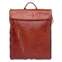 Вместительный рюкзак из натуральной кожи цвета красного дерева от Lakestone, арт. Ramsey Redwood