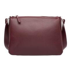 Элегантная женская сумка через плечо из натуральной кожи бордового цвета от Lakestone, арт. Taylor Burgundy